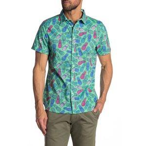 ⬇️ M,L,XL🍍 Pineapple Print Button Up Shirt